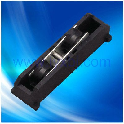 Silent black u/v groove track rollers used on sliding casement window with plastic materials