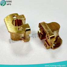 brass machining custom parts for mini motor cover