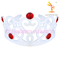 Wholesale Red Crystal Fashion Custom Crowns Tiaras