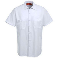 high quality 100% cotton white workwear shirt blouse