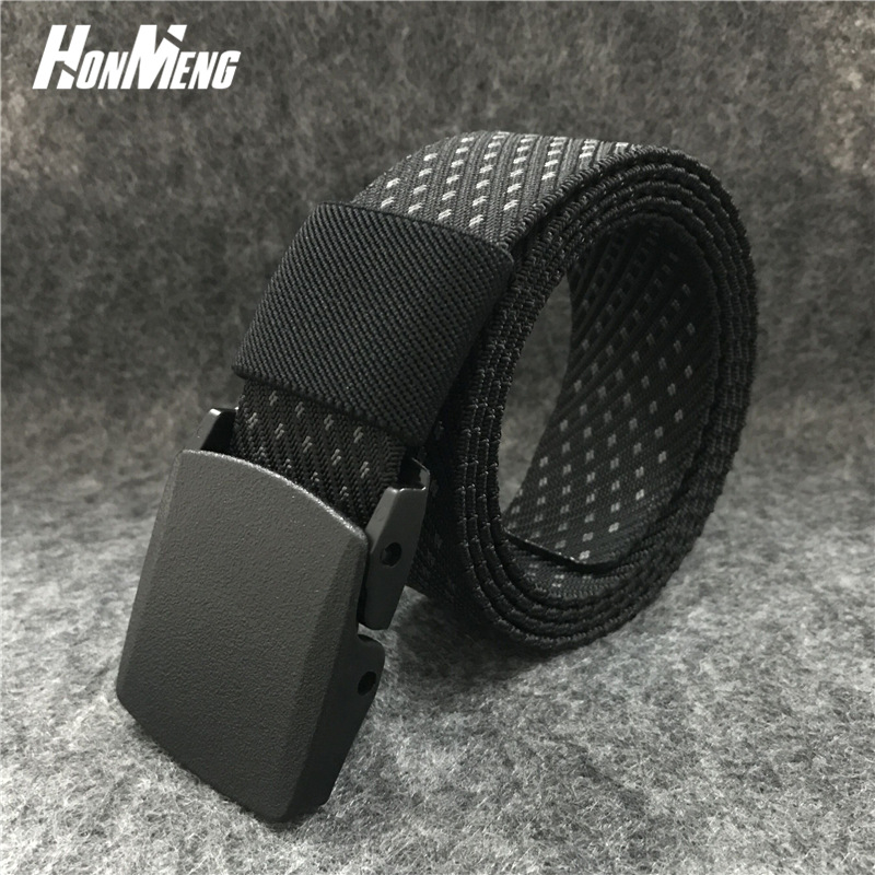 Outdoor belt with belt loop, high quality fast drying nylon canvas belt for man