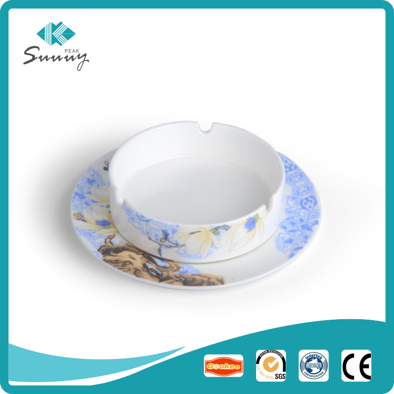 china Manufacturer hotel restaurant home use white porcelain ceramic ashtray