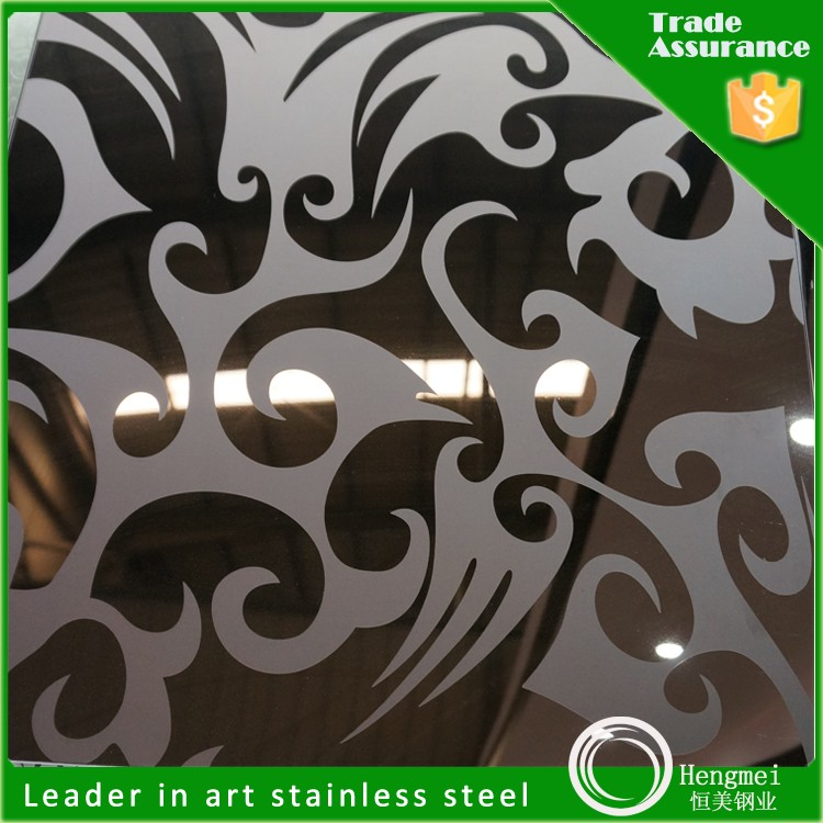 Mill Test Certificate Stainless Steel Sheet Mirror Etching for Exterior Wall Paneling