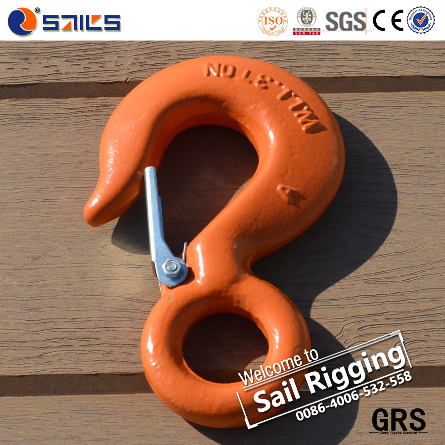 rigging steel wire rope eye hook