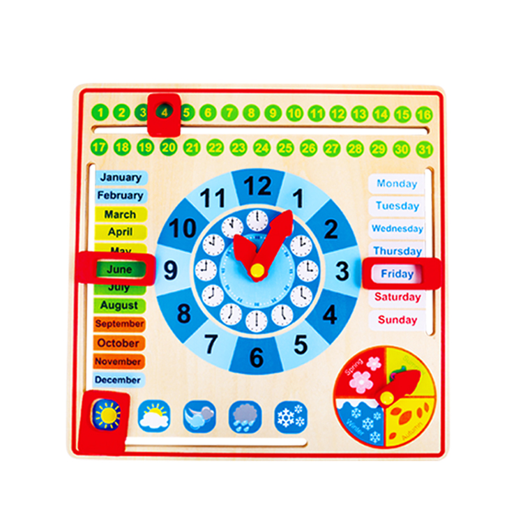 Wholesale high quality <strong>kids</strong> early learning wooden calendar toy