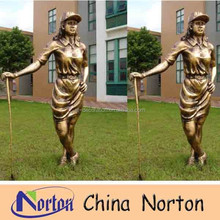 garden imitation copper resin golf woman statue NTRS029S