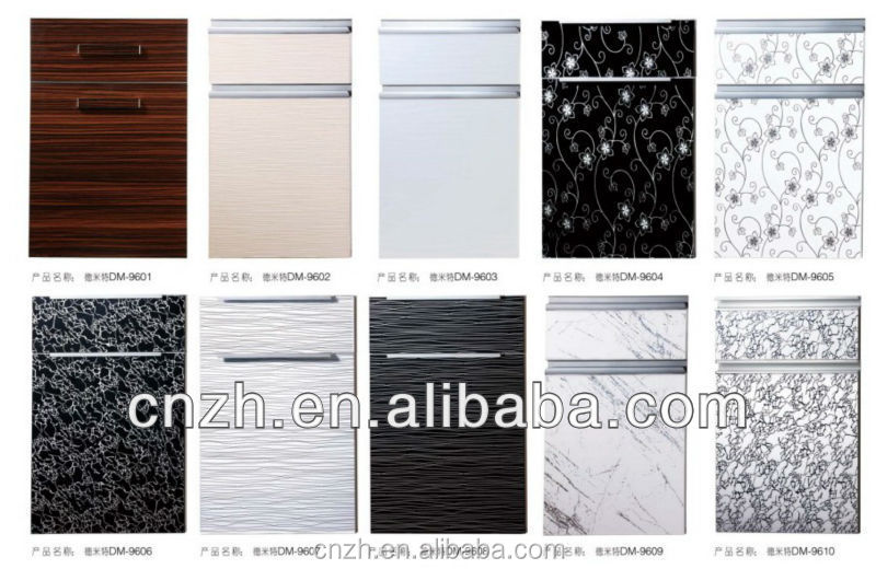 modern customized high glossy used kitchen cabinet doors