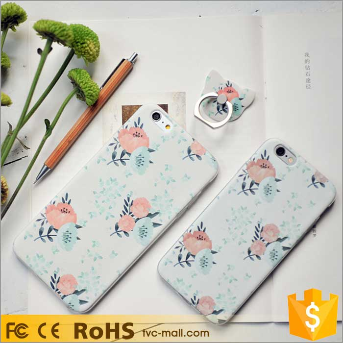 For iPhone 6 6s Plus TPU Gel Cover Cartoon Mobile Phone Cases For Girls