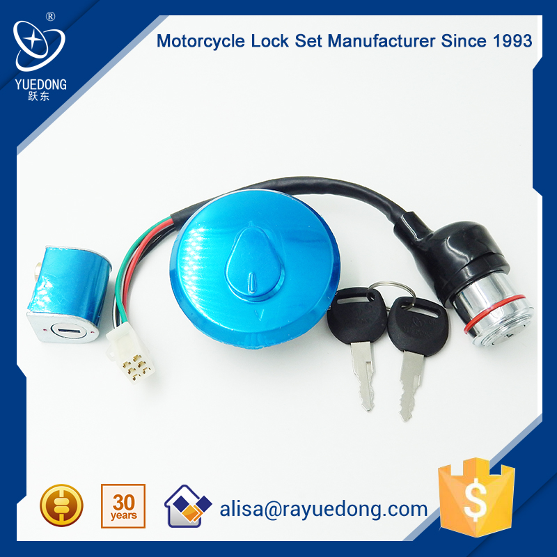 YUEDONG GN125 motorcycle parts lock set,ignition lock, fuel tank lock for suzuki with High Quality