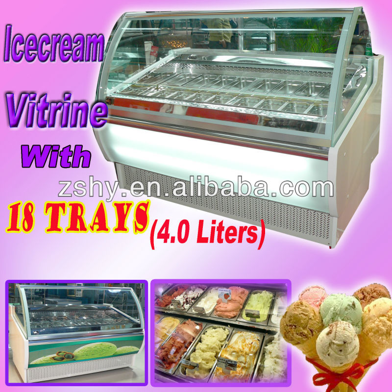 Ice cream Vitrine with 18 trays (4.0 liters)