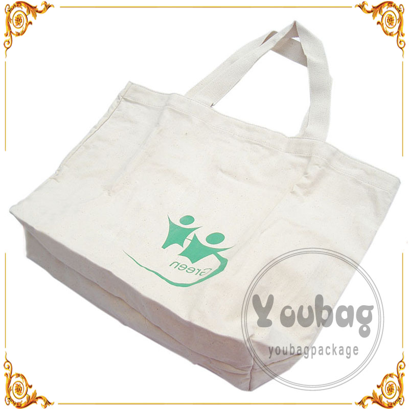 Custom printed rigid canvas bag with gold stamping LOGO