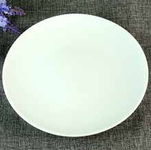 Low Price Stock Big Size White Round Ceramic Plates Dishes For Restaurant