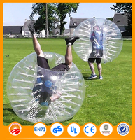 Gaint body inflatable human bubble ball for football