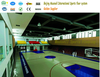 Basketball court floor/badminton court mat/ pp interlock flooring