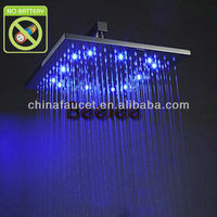 "12"" Brass LED Overhead Shower QH325BF"
