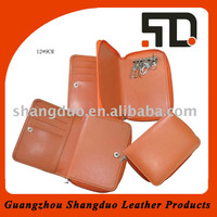 Guangzhou Manufacture Selling Well Brown Leather Key Bag for Promotion