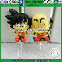 Dragon ball z dust plug phone,Custom cell phone dust plug,OEM pvc dust plug wholesale