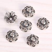 sef061 diy jewelrysilver findings,big size(d14x2mm hole) 925 sterling silver Lotus flower filigree Pierced bead caps