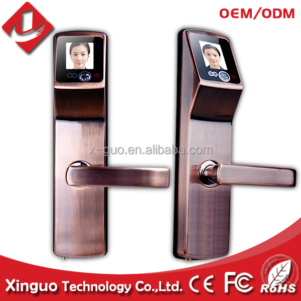 double encryption authentication Touch Screen 304 stainless steel face fingerprint door lock