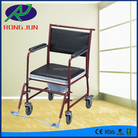 Steel Commode chair with Bedpan, Frame-Powder coated commode