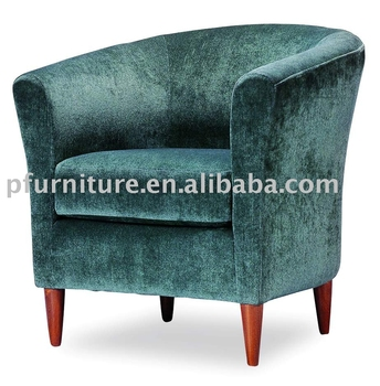 fabric lounge single sofa, round chair PFC495