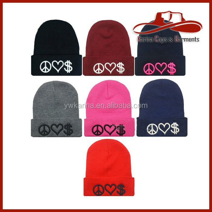 wholesale top quality hot selling knitting models and cap hat