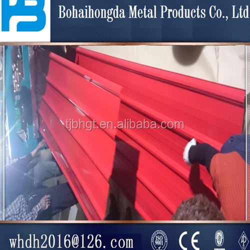 Hot sale China building material colorful steel sheet/galvanized/corrugated red roof tile