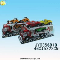 Fine Workmanship Double-deck Trailer / Truck Toys with 3 Cars