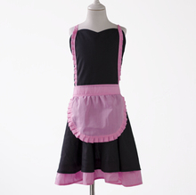 wholesale promotional personalized new design customized Cosplay Apron Kids Cute Cotton French Maid Costume Cosplay Apron