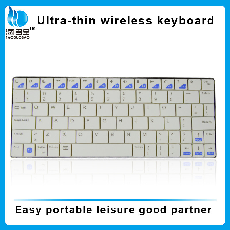 Rechargeable Ultra-slim wireless connection computer mini bluetooth keyboard