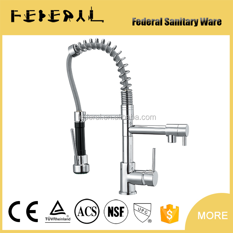 Latest Pull Out Spray Kitchen Faucet Single Handle Brass Kitchen Sink Water Mixer Tap LB-8001-2