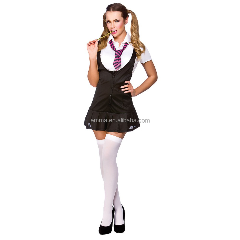 Tremendous office chick Charity Bangs posing in a school uniform  553009