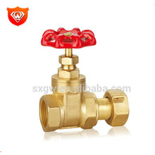 China manufacture water flow control valve brass gate valve for water meter