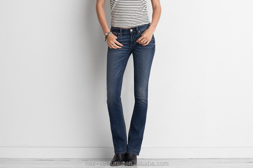 stretch denim jeans flare leg jeans OEM wholesale