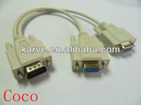 VGA M to 2X VGA F splitter cable with competitive price