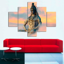 Hindu Gods Group Wall Art Canvas Painting Framed Large Size On Sale