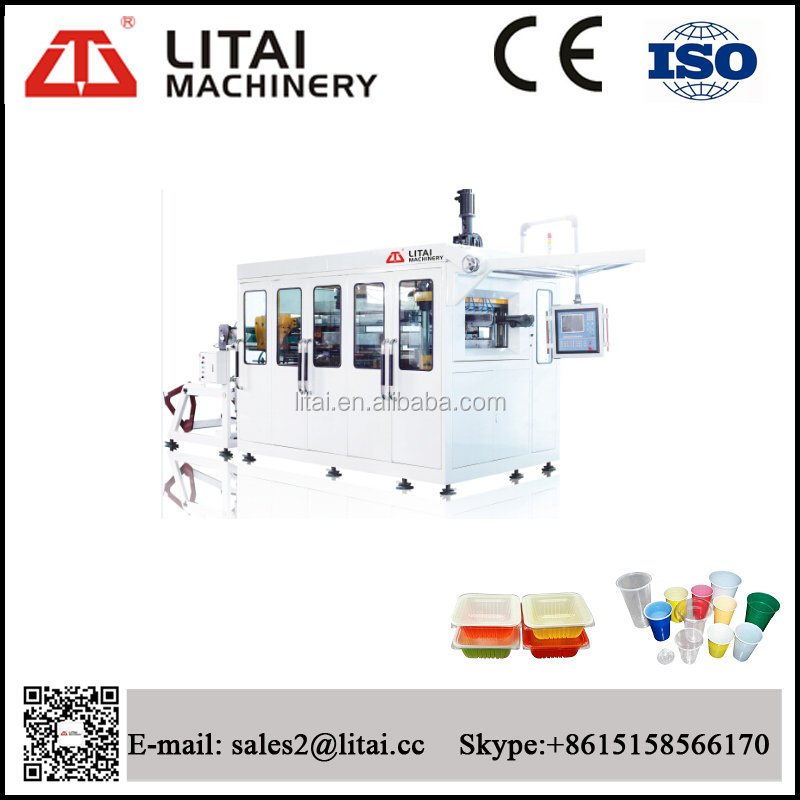 High speed long-life disposable price plastic ps cup producing machine
