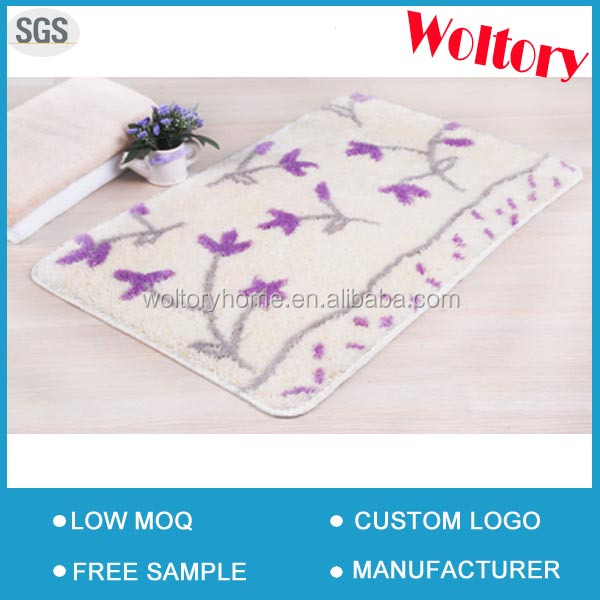 Non-slip Acrylic custom Jacquard Home floor carpet