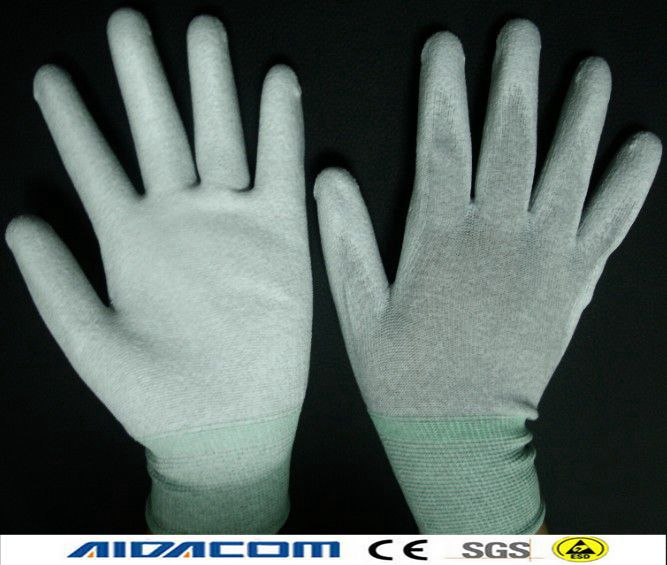 EN388 Antistatic glove Carbon fiber ESD palm coated gloves