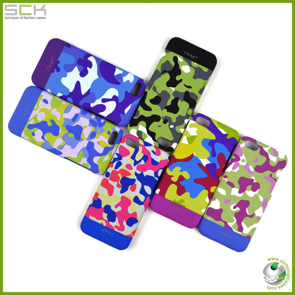 UMKU High quality noctilucence camouflage cell phone cover for iphone 5c cases