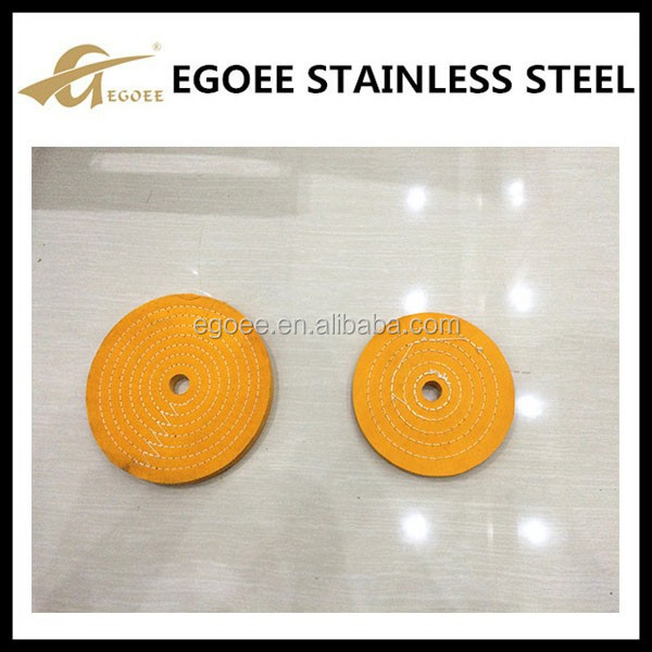 Yellow polishing buffing cotton cloth wheel for metal pipe