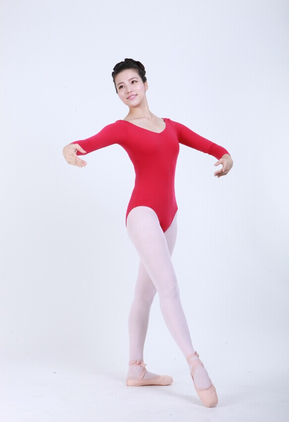 D031018 Dttrol wholesale girls long sleeve gymnastics leotards