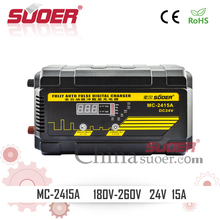 Suoer Full 24V LED Display Pulse Digital Battery Charger 15A Automotive Battery Charger