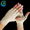 Nylon dot compression half finger arthritis gloves for relief Joint Pain
