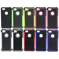 Football Pattern Rugged Hybrid TPU+PC Shockproof Case Cover For iPhone 5 5s
