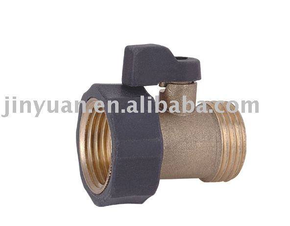Brass Coupling with shut off valve