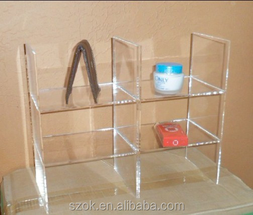 acrylic clear new products custom floor standing book <strong>shelf</strong> made in china