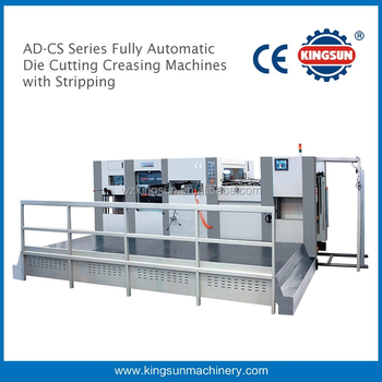 AD-1060CS Automatic Die Cutting and Creasing Machine with Stripping for Carton Boxes