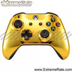 Chrome Gold Color Front Housing Cover Replacement for XBOX ONE S Wireless Controller