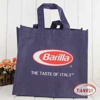Customized logo print 100% new PP non woven promotional tote shopping bags